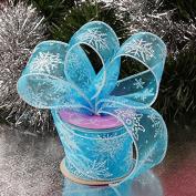 Krafty Klassics 1 Roll of Frozen Snowflake Sheer Ribbon