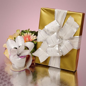Krafty Klassics 1 Roll of Silver/White Sweet Wedding Ribbon