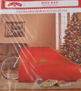 Merry Christmas Large Bicycle Gift Wrap Bag for Bikes