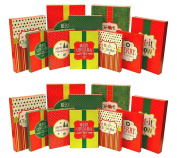Christmas Holiday Multi Colour Festive Gift Wrapping Shirt, Robe, & Lingerie Boxes Set, Red, Green, Beige,