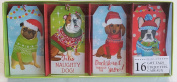 Lady Jayne Holiday Christmas Sweater Dogs Gift Tags