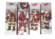 Santa Claus Bottle Sized Christmas Gift Bags - set of 12