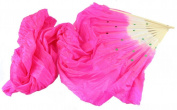 Chunshop 4 Colours Colourful Hand Made Belly Dance Dancing Silk Bamboo Long Fans Veils