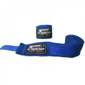 4Fighter Boxing bandages / handwraps 350cm elastic blue