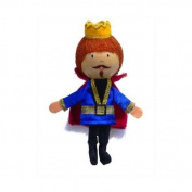 Fiesta Crafts Finger Puppets - Fabric King Finger Puppet With Wooden Head by Fiesta