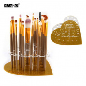 Elevin(TM)20 Hole Love Makeup Brush Holder Drying Rack Organiser Cosmetic Shelf Tool