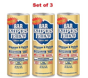 3 Pack of Bar Keeper's Friend Cleanser and Polish Phosphate And Bleach Free, 620ml