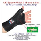 New 3D Breathable Patented Knit Elastic Fabric RSI Wrist Brace, Carpal Tunnel, BlackBerry Thumb, Trigger Finger, Mommy Thumb Brace, Thumb Splint,for Sports, Sprains, Arthritis and Tendinitis