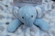 Blankets and Beyond Blue White Grey Elephant Nunu Security Blanket