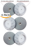 Baby Badger Wall Guards (White 6-pack) Designed for Child, Dog, Puppy Pressure Safety Gates