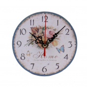 LEERYA Vintage Style Non-Ticking Silent Antique Wood Wall Clock for Home Kitchen Office (Batteries Not included)