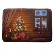 Kingfansion Christmas Home Decor, HD Printed Non-Slip Absorbent Bath Mat