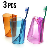 3pcs Combo Creative Cups foul brush cup lovers cup wash, toothbrush cup - For A Family of Three