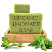 Organic Handmade Soap with Bamboo Soap Dish