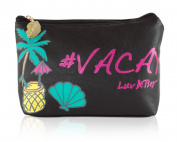 Luv Betsey By Betsey Johnson Vaycay Cosmetic Pouch Case - Black