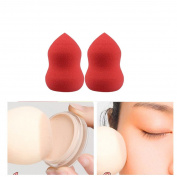 Usstore 2PC Powder Puff Gourd-Shaped Three-Dimensional Latex Powder Puff Makeup Beauty Tools