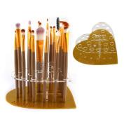 Alonea 20 Hole Love Makeup Brush Holder Drying Rack Organiser Cosmetic Shelf Tool