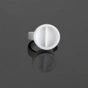 Baisidai 2 Slots 300PCS Disposable Plastic Nail Art Tattoo Glue Holder Eyelash Extension Rings Adhesive Pigment Holders Finger Hand Beauty Tools # 04