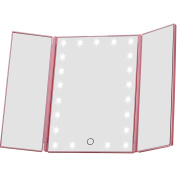 Miss Sweet Led Lighted Tri-Fold Makeup Mirror Travel Mirror for Beauty Makeup
