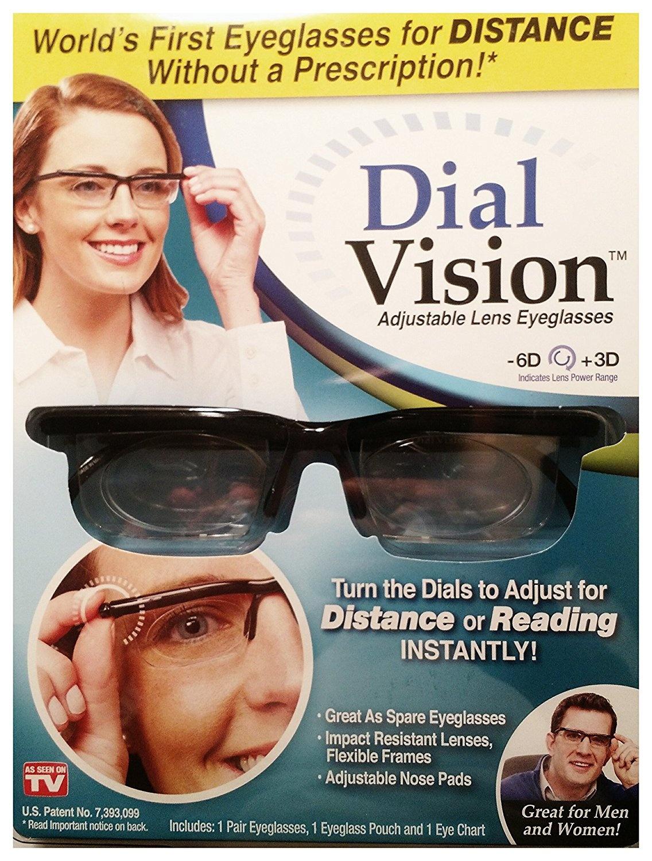 128b3d007d As Seen On TV Dial Vision Adjustable Lens Eyeglasses -6D +3D Free ...
