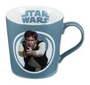 Vandor 99263 Star Wars Hans Solo 350ml Ceramic Mug, Blue/White
