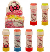 6 x HELLO KITTY BUBBLES Girls kid summer Party Bag Fillers Childrens outdoor toy by Henbrandt