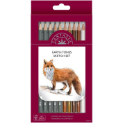 Fantasia Artist Pencil Sets 10/Pkg-Earth Tones