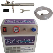 Badger Air-Brush Co. Bake Air 80-8N Compressor, 100-GB Airbrush and 1.8m Clear Hose