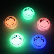 5 Colour Set Glow in the Dark Daytime Visible Pigment Powder 10g