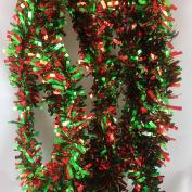 Christmas tree mantel two tone Garland Tinsel 6.4cm thick x 5.5m (540cm long)