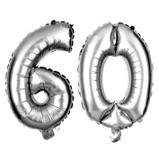 60 Number Balloons for 60th Birthday or Anniversary Party