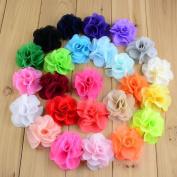 20 pcs Chiffon flower,handmade flowers for DIY headwear
