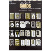 Gold Foil Wedding Pocket Cards 4x6 - Set of 24 Double Sided