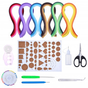 Outus Paper Quilling Kit Assorted Colours with 8 Quilling Tools and 29 Colours 600 Strips Quilling Paper