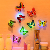 Lisingtool 10 Pcs Wall Stickers Butterfly LED Lights Wall Stickers 3D House Decoration
