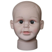 Anboo Child Head Model Mannequin Manikin For Wig Hat Mould Show Stand Display S Size