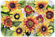"Caroline's Treasures 8766JCMT ""Sunflowers"" Kitchen or Bath Mat, 60cm by 90cm , Multicolor"