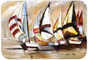 "Caroline's Treasures JMK1136JCMT ""Boat Binge Sailboats"" Kitchen or Bath Mat, 60cm by 90cm , Multicolor"