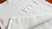 Amatahouse Savepak Luxury Home Hotel & Spa Bath Mat 100% Genuine Cotton White Bath Rug 43cm x 70cm , Brick Pattern