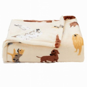 The Big One Super Soft Plush Throw Dogs