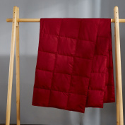 Puredown Packable Down Throw Blanket, Down-proof Fabric, 130cm x 180cm , Red