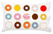 Oh, Susannah Donut Pillowcase - Fun Sleepable Colourful Donuts