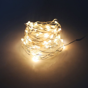LED String Lights Copper Wire Lights, Leadpo Waterproof Starry String Lights, Decor Rope Lights for Seasonal Decorative Christmas Holiday, Wedding, Parties