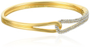 kate spade new york Pave Loop Clear/Gold-Tone Bangle Bracelet