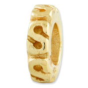 Sterling Silver Gold-plated Reflections Swirl Spacer Bead Charm