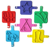Red Rooster Toy Company Beach Stamps, Cowboy Shapes - Set of 6 by New Metro Design