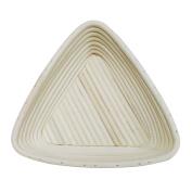 Agile-Shop 16cm European Style Triangle Shaped Banneton Brotform Bread Dough Proofing Rising Rattan Basket with Linen Liner Cloth