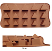 ADS Silicone Chocolate Mould - Triangle - 15 Cavities - 3 Sizes
