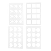 COSMOS 4 Different Designs Assorted Chocolate Chablon Cookies Stencil Mould for Cake Decoration