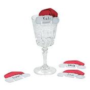 12 ~ Christmas Cheer Glass Décor ~ New
